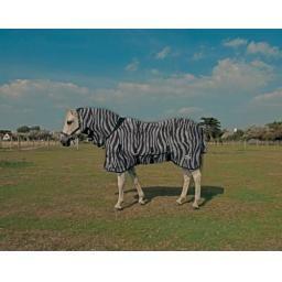 Rhine Gold Zebra Fly Rug