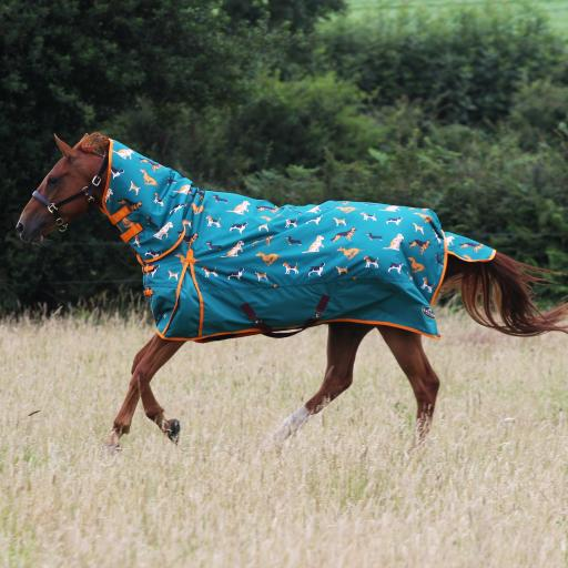 Gallop Dogs Print 200g Combo Turnout Rug