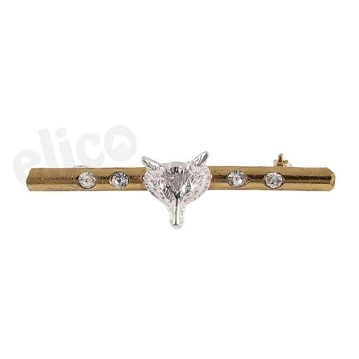 EE51 Elico Stock Pin: Fox Head: 2 tone